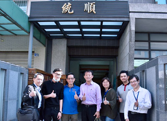 Chang Feng-Yuan, Director of the Economic Development Bureau of Taichung City visits Tungshung Technology Co. Ltd.(TST)